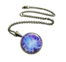 Antique Bronze Blue and Purple Nebula Necklace by crystaland