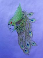 Peacock Fairy Head Design by Me by TravelingArtist93