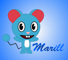 Marill as HTF by Elica1994