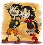 Little Aradia and Tavros by Liralicia