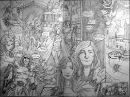 Thor Double page spread by AndrewKwan