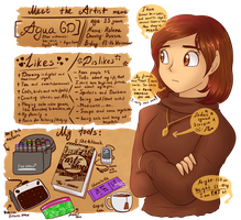 .: Meet the Artist meme :. by AquaGD