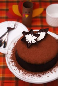 Delicious Chocolate Cake Dust with Mocha Powder by theresahelmer