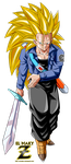 Future Trunks Super Saiyan 3 by el-maky-z