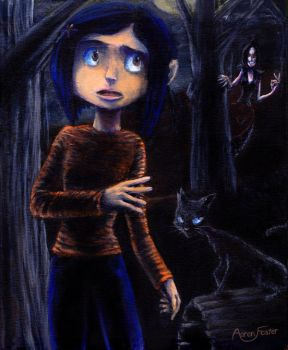 Coraline Acrylic Painting by Adyon