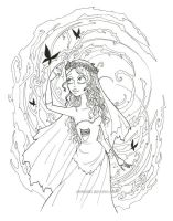 Corpse Bride Lineart by Kata-elf