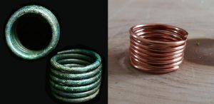 Day 4: Copper Alloy Wire Work Viking Coiled Ring by NightPhoenixArt