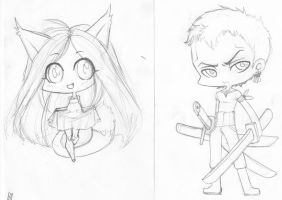 Chibi Commissions WIP by JuneRoseXX