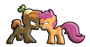 Button Vs. Scoots! by Jakeneutron