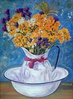 Flowers in a Jug by dlemelin