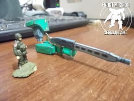 Paper models - Front Mission (Frost hand) by Sermann