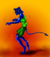 Nightcrawler Dancing by ToygerCat