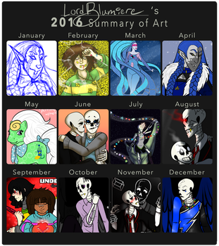 2016 Summary of Art by LordBlumiere