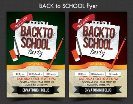 Back to School Party Flyer by ryan-mahendra