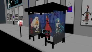 MMD Bus Stop Stage by mbarnesMMD