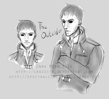 Doodles: The outsider by Crazzity