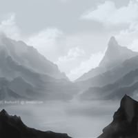 Misty Mountains by BlueHeart417