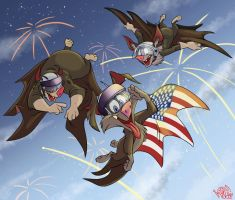 Happy 4th from the Belfry Boys by SuperStinkWarrior