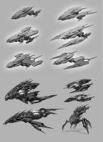 AlienShip Thumbnails by BenedictWallace