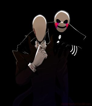 Marionette And Slenderman by tmntffnyp