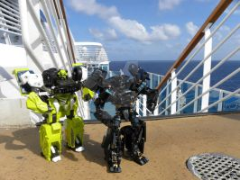 Ironhide and Ratchet At Sea by Letohatchee