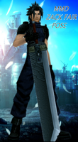 MMD Zack Fair Pose by LittleEvilPikachu