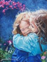 Sisters - Oil Painting by AstridBruning