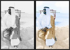B and W coloring of Zayed 1 by Sultan-Almarzoogi