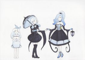 Three of ghost and light by Feliks-Grell