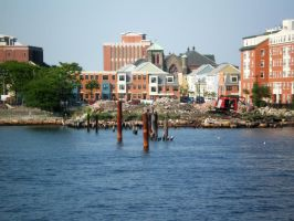 Boston Harbor View I by 3dmirror-stock