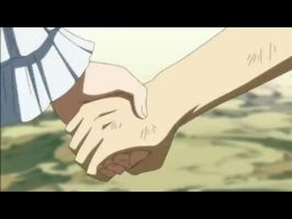 NALU : Natsu and Lucy hand in hand by MelikeCan