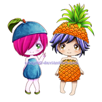 Blueberry and Pineapple by HelloPusa