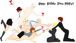 Happy Birthday Draco! Collab by InuyashaRules6596