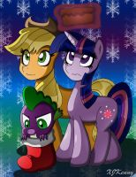MLP Christmas Duo 03 by XJKenny