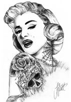 Marilyn Monroe by jakelliscott