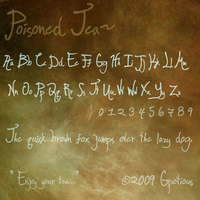 FONT: Poisoned Tea by Gpotious
