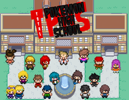 Total Pokemon High School Cover by JotheFro