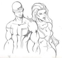 Cyclops and Jean by Chanteloupe