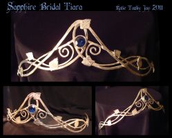 Sapphire Bridal Tiara by bug-in-my-eye