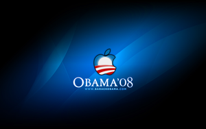 Barack Obama AppleSpotlight WP by TheIronLion