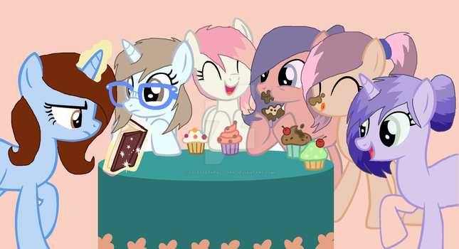 Group Picture Of All My OC's by CelesteTheAlicorn