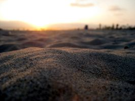 a dune on the endless beach by exxodium