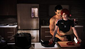 Hey Shepard, so what are we having? by mandyalenko