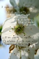 Affirmation - Blooming life by Tricia-Danby