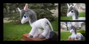 Unicorn Plush Commission by Leah-Tribal