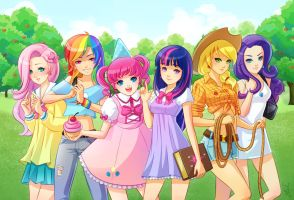 Equestria Girls by X-Chan-