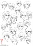 Study: Faces and hair male by nai-XaIn