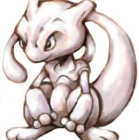 Mewtwo Oekaki by SailorClef