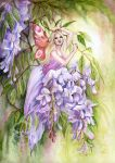 Wisteria by JannaFairyArt