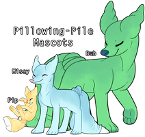 Pillowing-Pile Mascots by CloverCoin